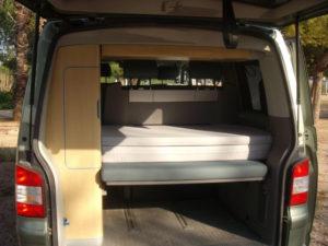cama plegable furgo California