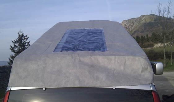 placa solar techo elevable furgo